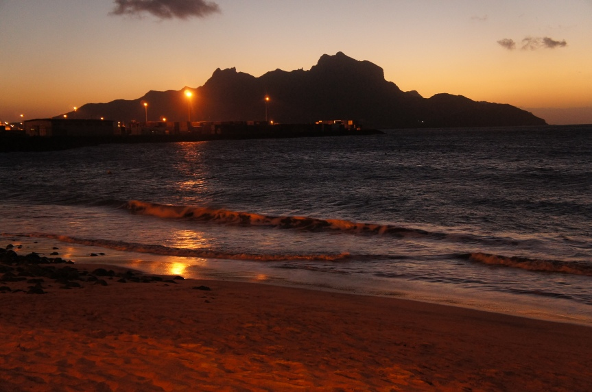 At last a beautiful sunset in the island of Sao Vicente